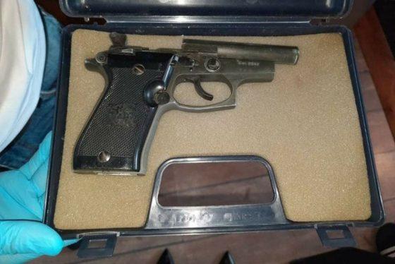 Az egyik, rendőrök által lefoglalt fegyver (Fotó: Nógrád Megyei Rendőr-főkapitányság)
