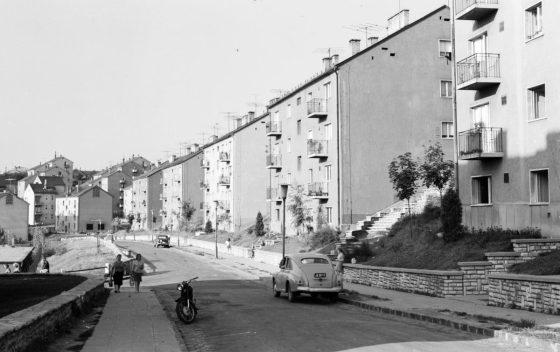 Szerpentin utcai lakótelep, 1967-ben (Archív fotó: Fortepan   Lechner Nonprofit Kft. Dokumentációs Központ / VÁTI)