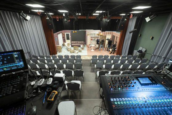 A Zenthe Ferenc Színház új játszóhelye, a 120 fős kamaraterem (Fotó: MTI/Komka Péter)